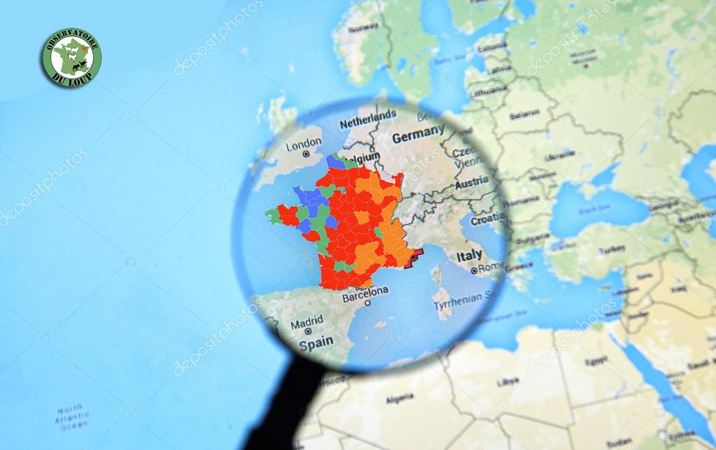 Carte De Dispersion Du Loup En France Observatoire Du Loup