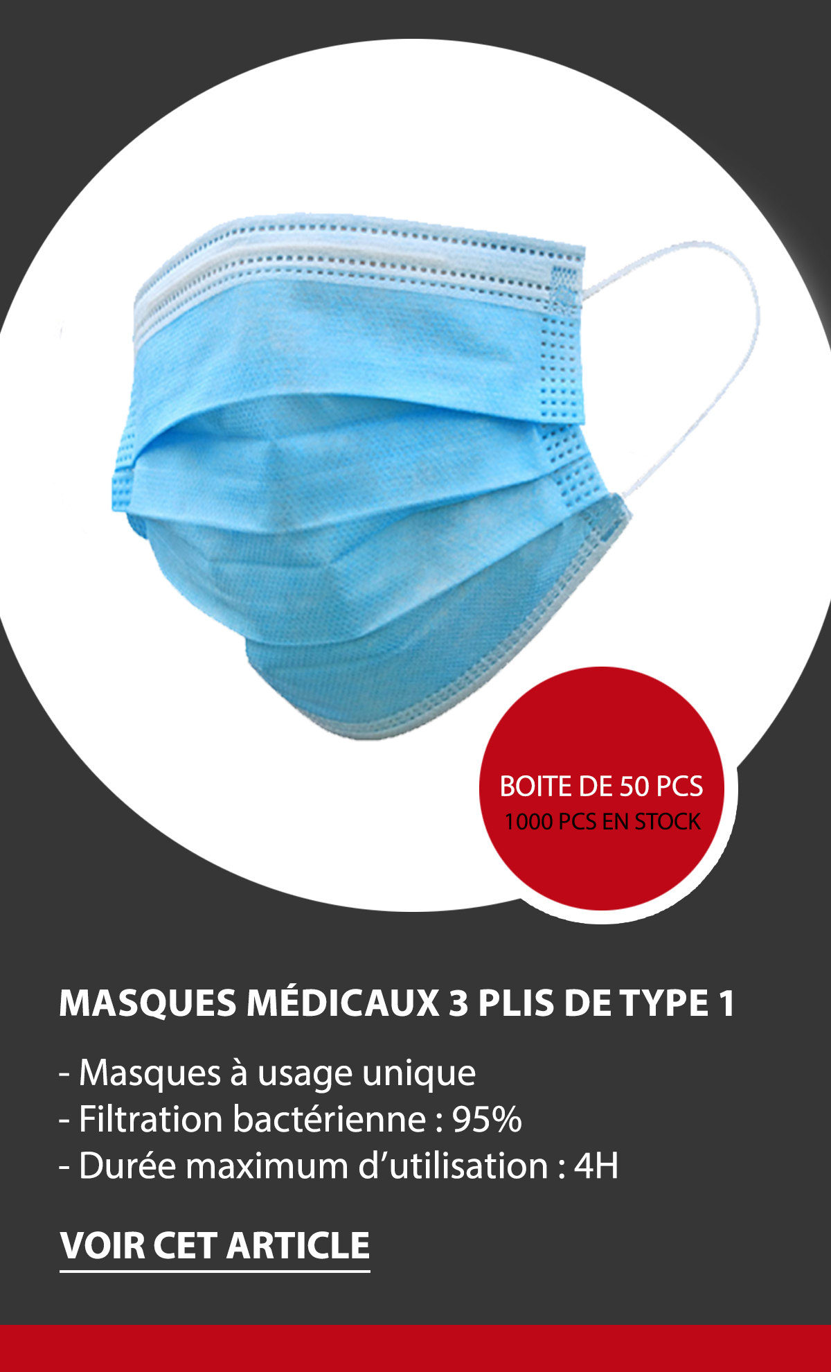 Masques médicaux de protection - Apie Logistic