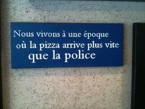 police pizza