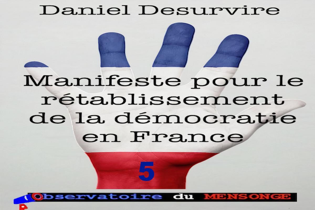 Manifeste pour le rétablissement de la démocratie en France – 5 –