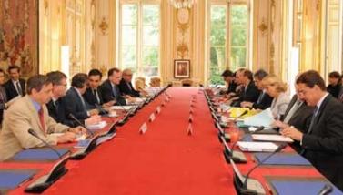 Première réunion interministérielle sur le Grand Paris, le 28 juillet dernier. Photo : Matignon.