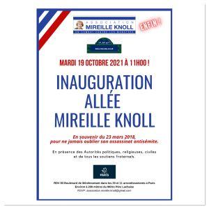 Affiche pour l'inauguration de l'allée Mireille Knoll