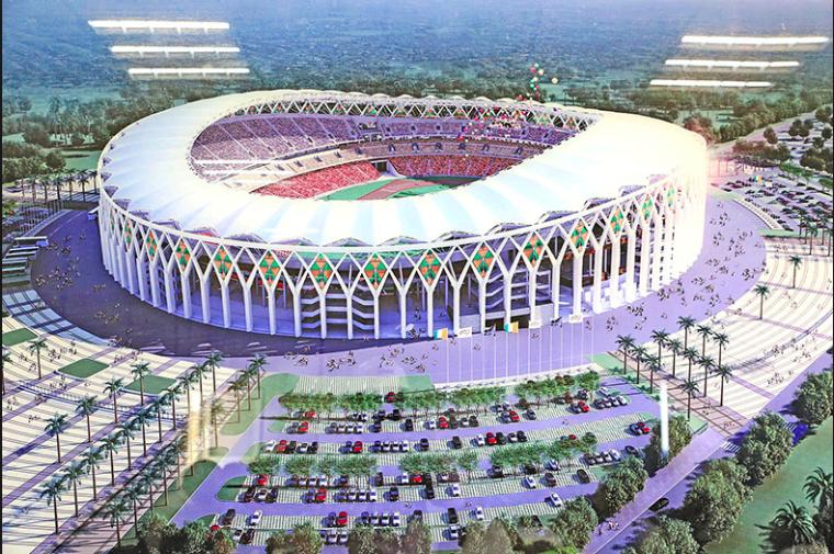3 Stade d'Ebimpé : La Chine et sa contribution aux infrastructures  sportives en Cote d'ivoire. - Observatoire Français des Nouvelles Routes de  la Soie