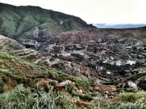 Vista de Barranco Hondo. A la izquierda se distingue el complejo arqueológico. LUIS ROCA ARENCIBIA