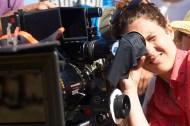 Manuela Moreno, tras la cámara durante el rodaje.