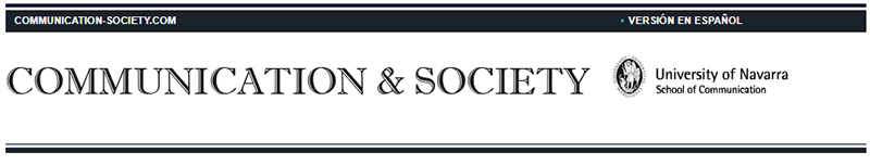Cabecera de la revista Communication & Society