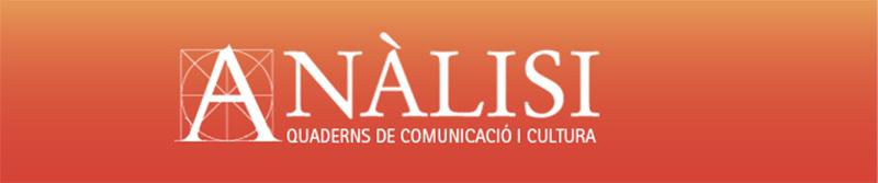 Cabecera de la revista Anàlisi: Quaderns de comunicació i cultura