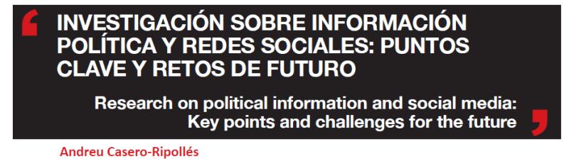 Redes sociales e información política - Artículo académico