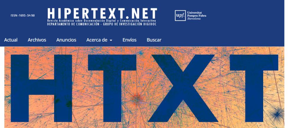 Revista académica Hipertext.net número sobre ciencia abierta