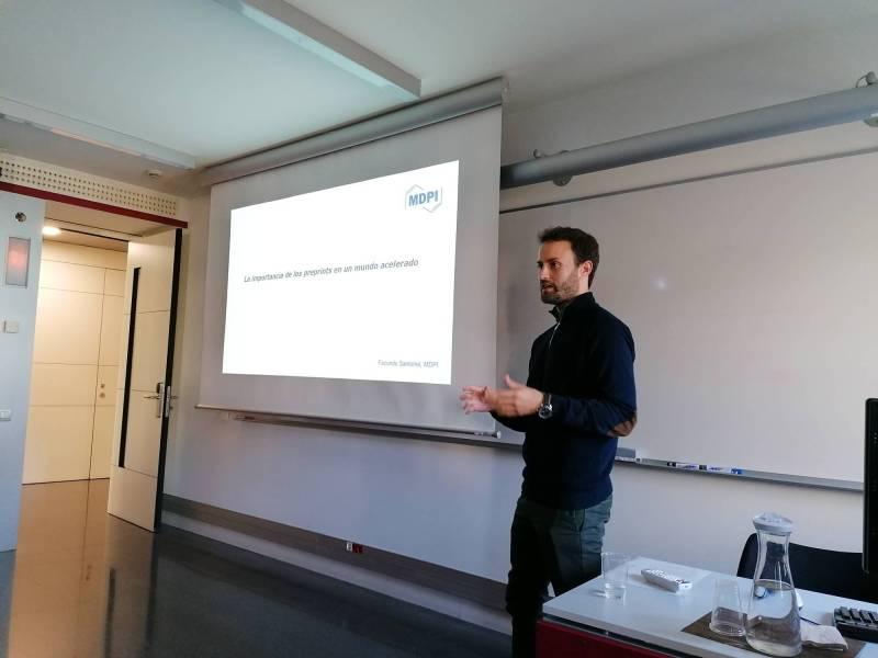 Facundo Santomé, Marketing Manager de la editorial académica MDPI, destaca la importancia de los preprints en la actualidad.