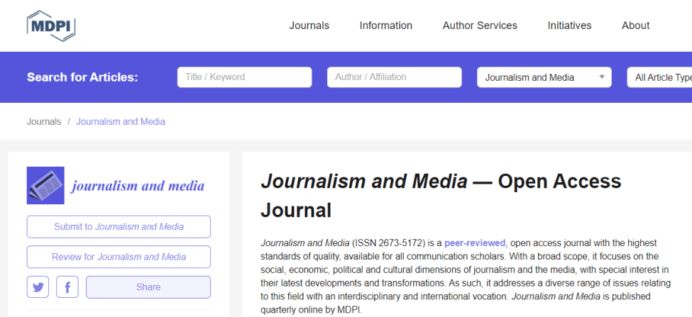 Journalism and Media