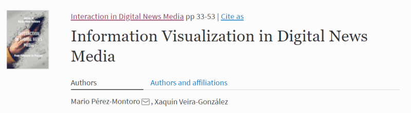 Chapter about information Visualization