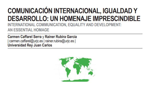 Número de índex.comunicación sobre comunicación internacional