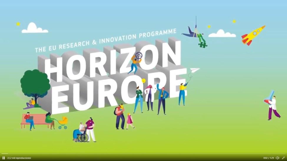 Logo del programa Horizonte Europa