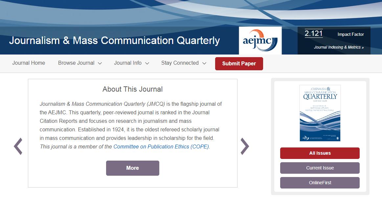 Journalism & Mass Communication Quarterly (JMCQ)