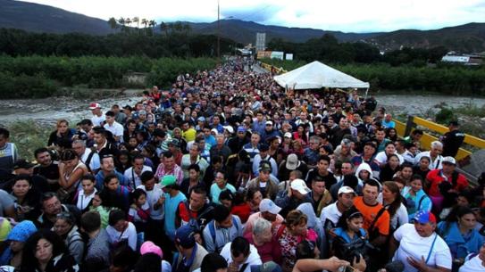 El éxodo venezolano… EN UN PANTALLAZO
