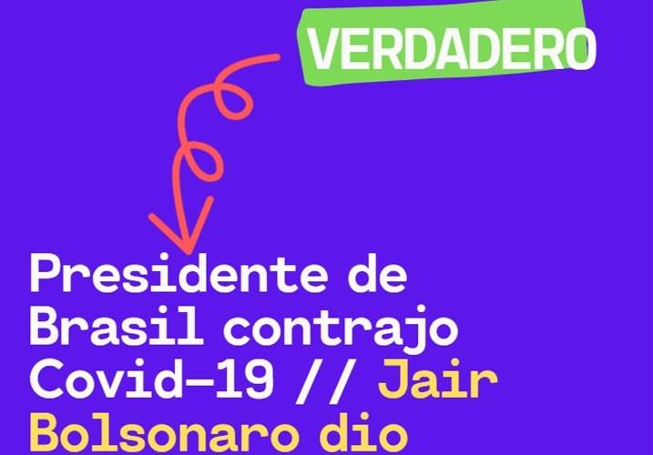 Jair Bolsonaro da positivo a Covid
