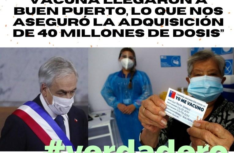 «Estos 4 proyectos de vacuna llegaron a buen puerto, lo que nos aseguró la adquisición de 40 millones de dosis de vacunas» #VERDADERO