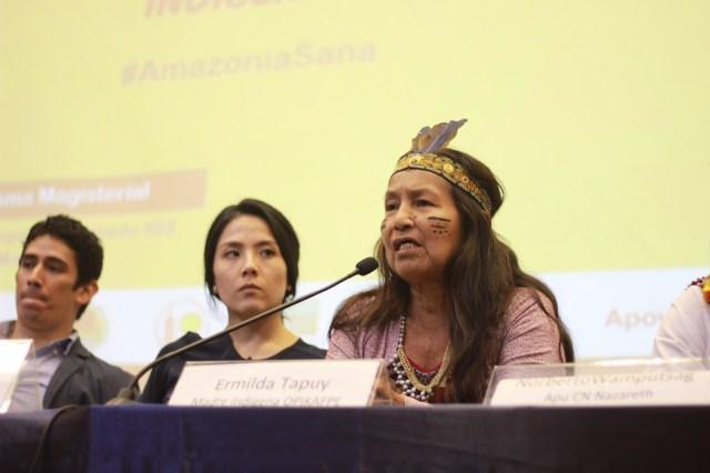 Ermilda Tapuy, madre indígena de OPIKAFPE