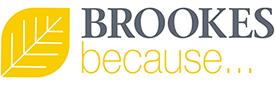 Brookes because - campaign leaf graphic