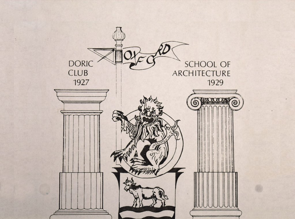 Early Doric Club emblem - Oxford School of Architecture, 1927-1929