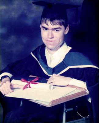 Daniel at graduation