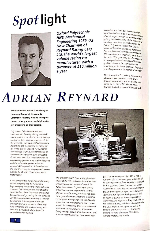 Oak 93 Adrian Reynard 1st page w1170