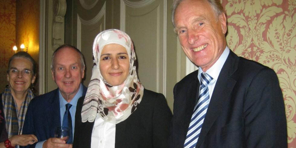 Jamila Alzan with Jan and Iain Chalmers and Paul Brankin 1000x500