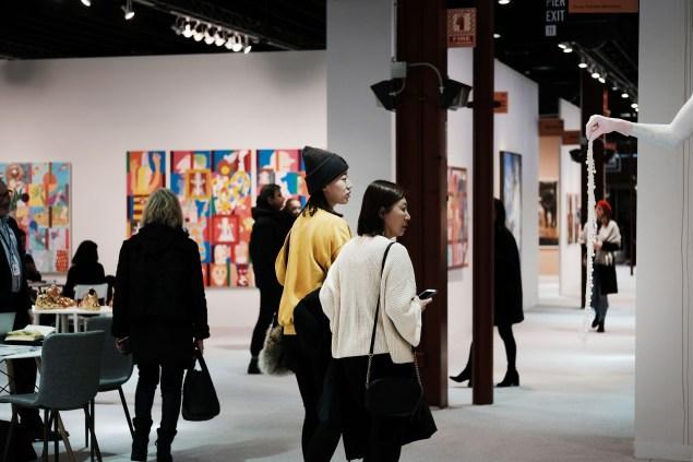 Visitantes na Armory Show de 2019