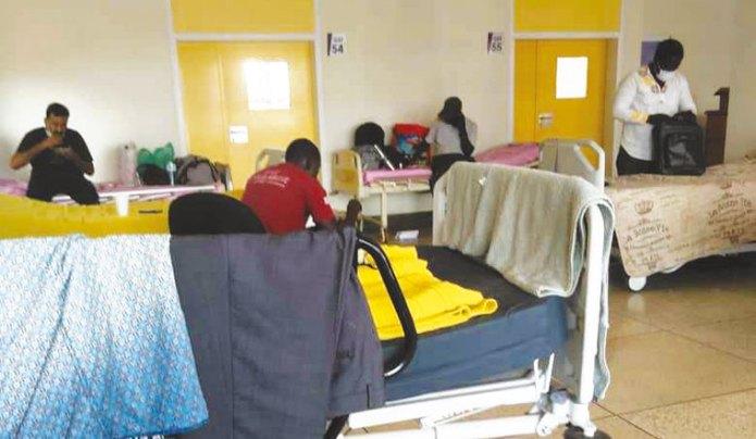 COVID-19 patients at Mulago hospital