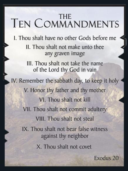 10 commandments # 24