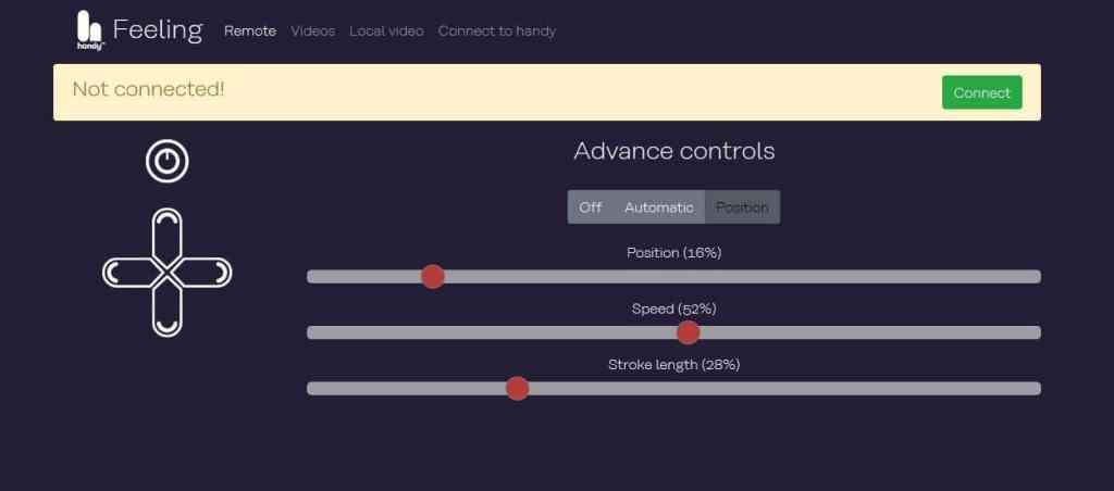 The Handy Remote control website screenshot