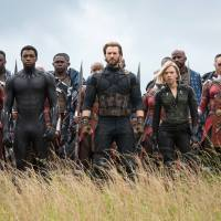 Avengers Infinity War - Captain America, Black Panther, Black Widow, and the Winter Soldier