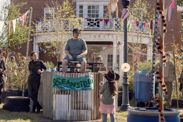 Eugene in a dunk tank