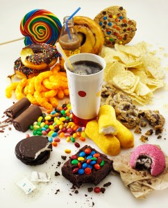 Sugary, starchy and acidy foods
