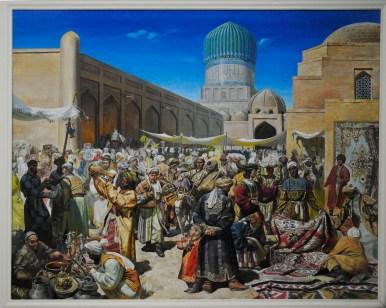 Samarkand Bazaar by Aliquiov