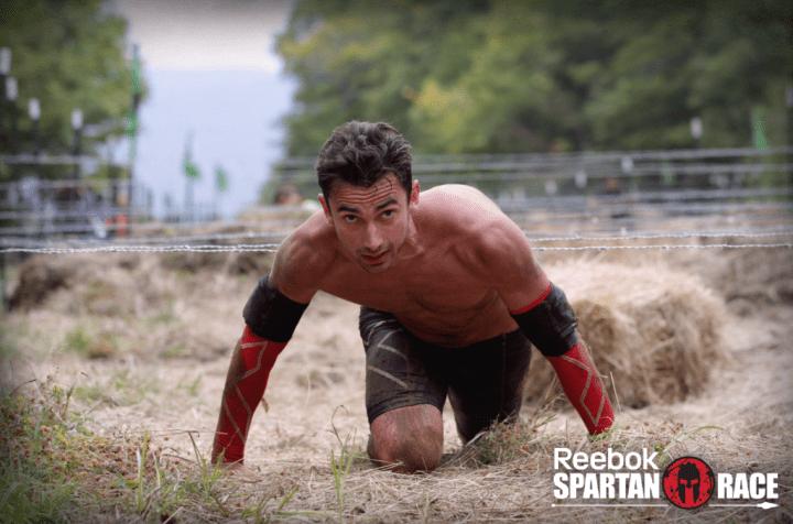 Thomas Blanc lors des championnats du monde 2014 de Spartan Race.
