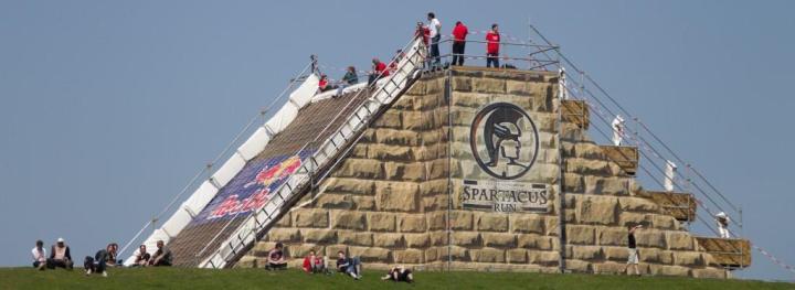Une version de l'obstacle finalisée lors des Spartacus Series