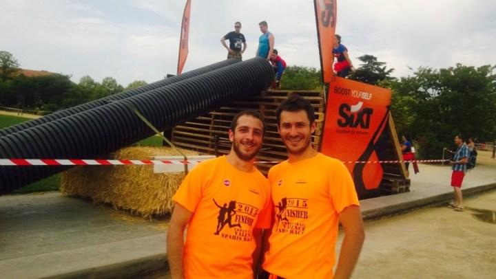 Kevin et Florian, habitués de courses à obstacles.