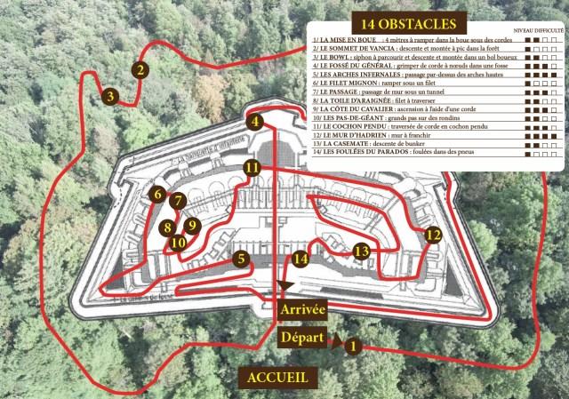 Carte du parcours Bouge Ton Fort