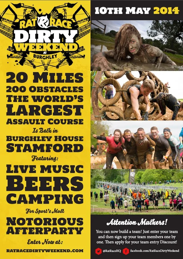Rat Race Dirty Weekend Flyer