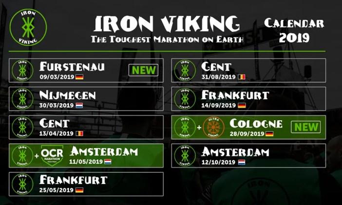 De Iron Viking Kalender voor 2019