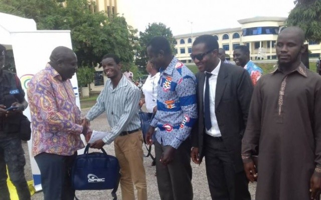 GIFEC, Comm. Ministry supports visually impaired UCC students with 30 laptops