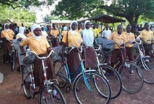 NGO distributes 100 bicycles to school children in Northern Region