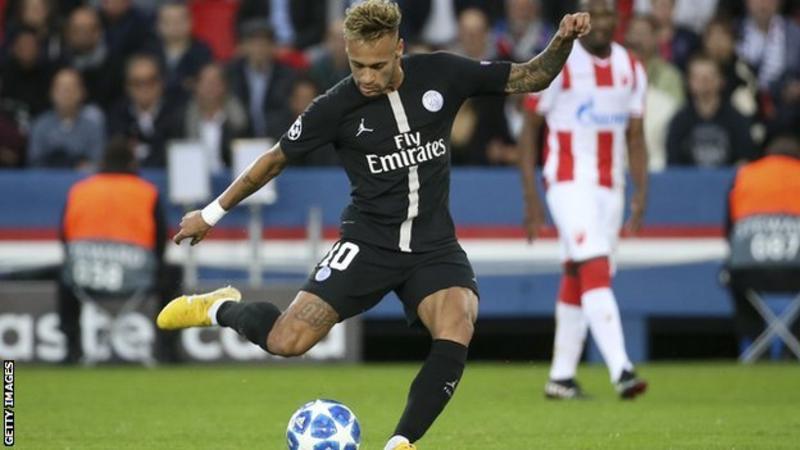 UCL: Neymar hat-trick helps PSG beat Red Star Belgrade