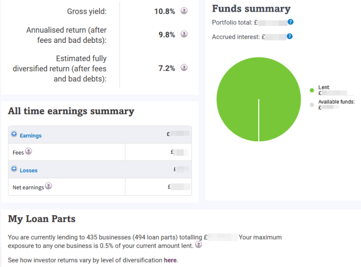 Funds Summary Screen Shot