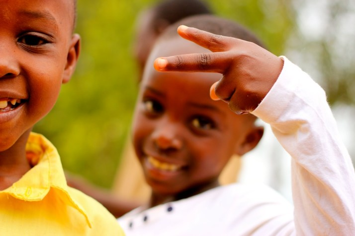 Peace, from a girl (and boy) in Rwanda