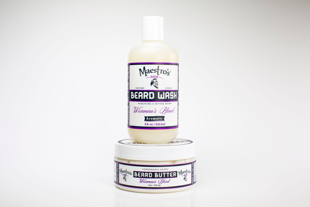 Maestro's Beard Wash / Beard Butter 'Wisemen's Blend' Set