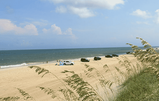 Hatteras Island Beach Access - driving