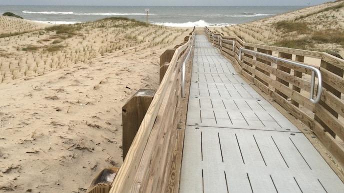outer banks handicap beach access ramp